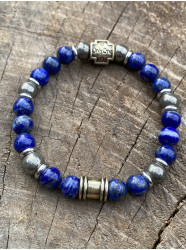 """Bracelet """" Bleu Or """""""