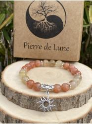 """Bracelet pierres """" Doux..."""