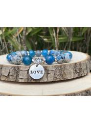 """Bracelet pierres """" Bleu..."""