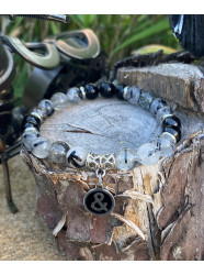 "Bracelet pierres "" Black..."