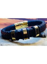 """Bracelet cuir """" Or tendre """""""