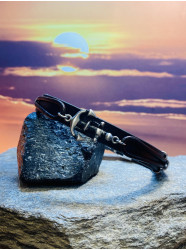 """Bracelet cuir """" Cuir Marine """""""