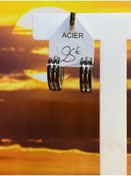 """Boucles d'oreilles """" Acier..."""