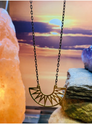 """Collier """" soleil d'or """""""