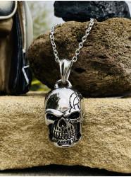 "Collier acier "" Skull'n road """