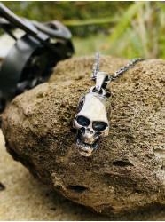 """Collier argent """" Skull'n..."""