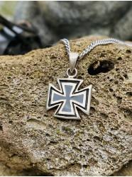 """Collier métal """" Croix des..."""