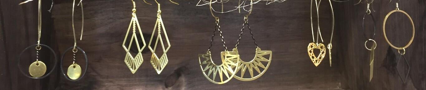 Bijoux géométrique en laiton fabriqués en France